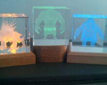 Лазерная гравировка в стекле