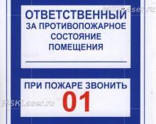Противопожарные таблички ГОСТ