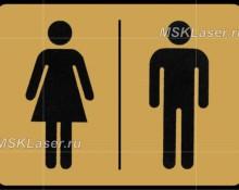 Таблички на дверь туалета М и Ж
