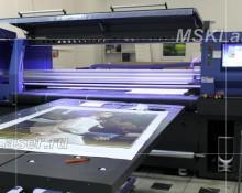 УФ печать на пластике