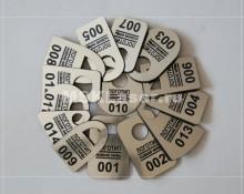 Пластиковые номерки для гардероба